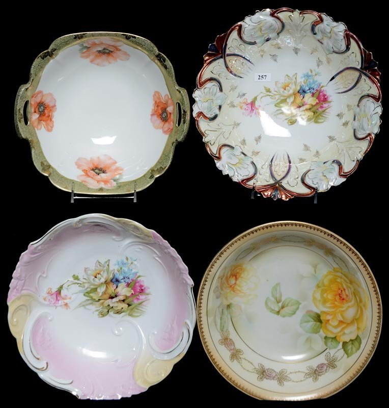 (4) PRUSSIA AND PRUSSIA STYLE BOWLS