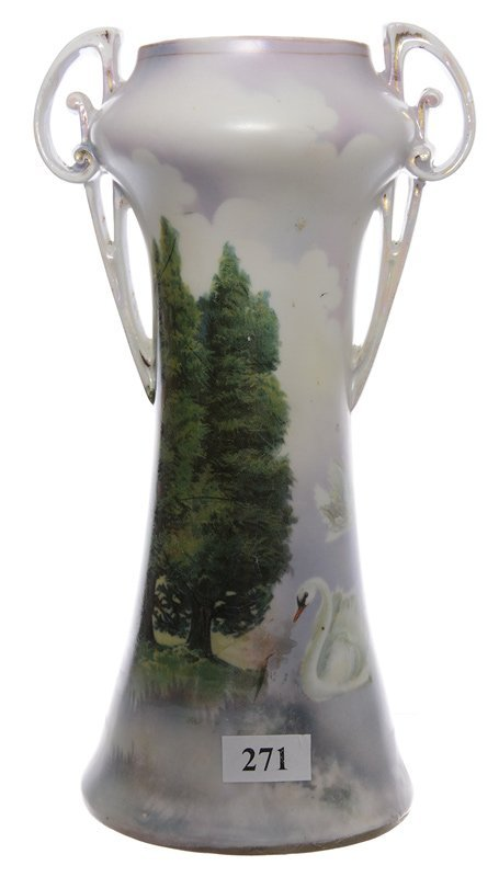 "9"" RSP TWO-HANDLED VASE"