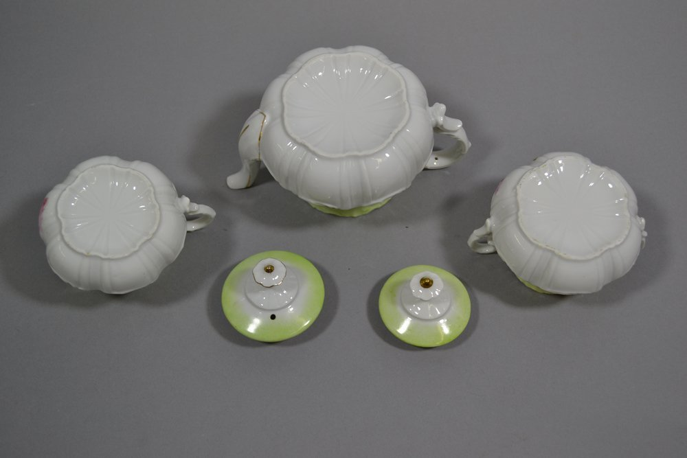 ASSORTED R.S.PRUSSIA TEA POTS, CREAMERS AND SUGARS - 2