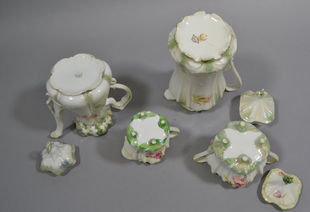 ASSORTED R.S.PRUSSIA TEA POTS, CREAMERS AND SUGARS - 3
