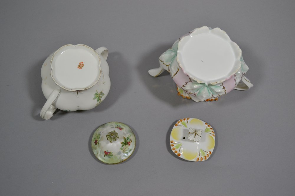 ASSORTED R.S.PRUSSIA TEA POTS, CREAMERS AND SUGARS - 4
