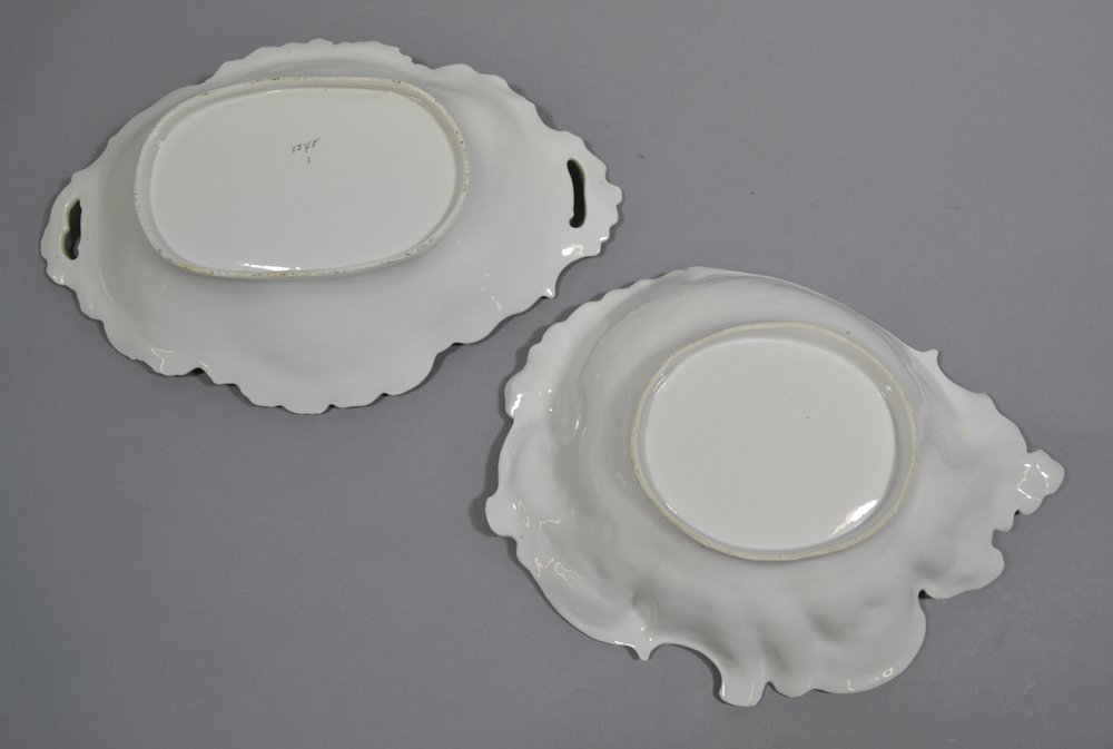 (2) UNMARKED PRUSSIA OVAL BOWLS - 2