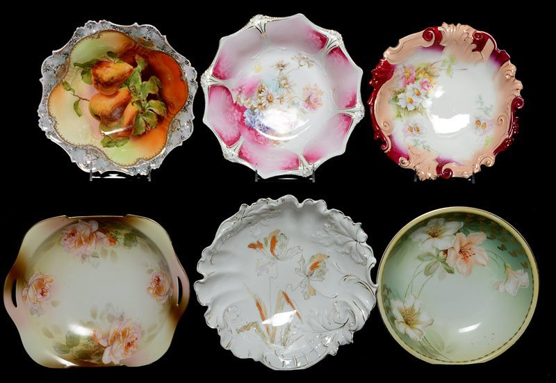 (6) ASSORTED PRUSSIA AND PRUSSIA STYLE BOWLS INCLUDING