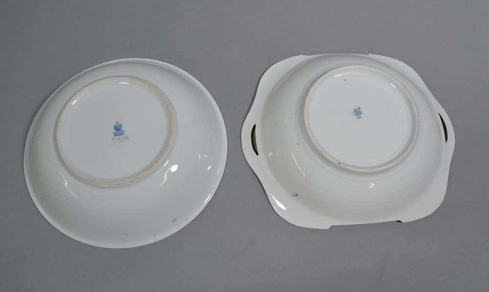 (6) ASSORTED PRUSSIA AND PRUSSIA STYLE BOWLS INCLUDING - 3