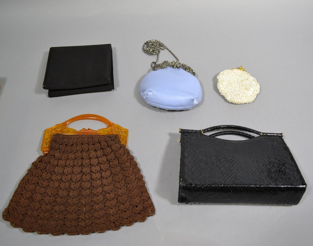 ASSORTED HAND BAGS, PURSES AND BUTTONS INCLUDING - 2
