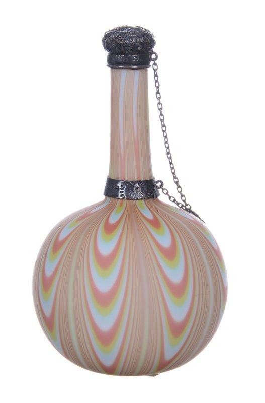 "4.25"" ENGLISH NORTHWOOD ART GLASS PERFUME BOTTLE"
