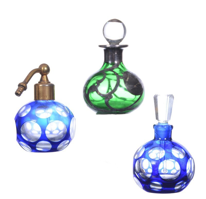 (3) SMALL PERFUME BOTTLES INCLUDING