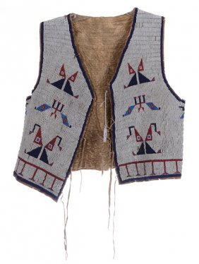 VERY RARE AUTHENTIC BEADED SIOUX INDIAN VEST