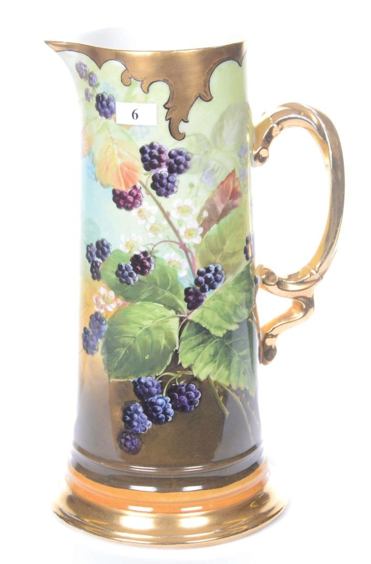 "11.75"" MARKED LIMOGES (J.P.L.) HANDPAINTED TANKARD"