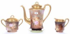 THREE PIECE HAVILAND LIMOGES TEA SET