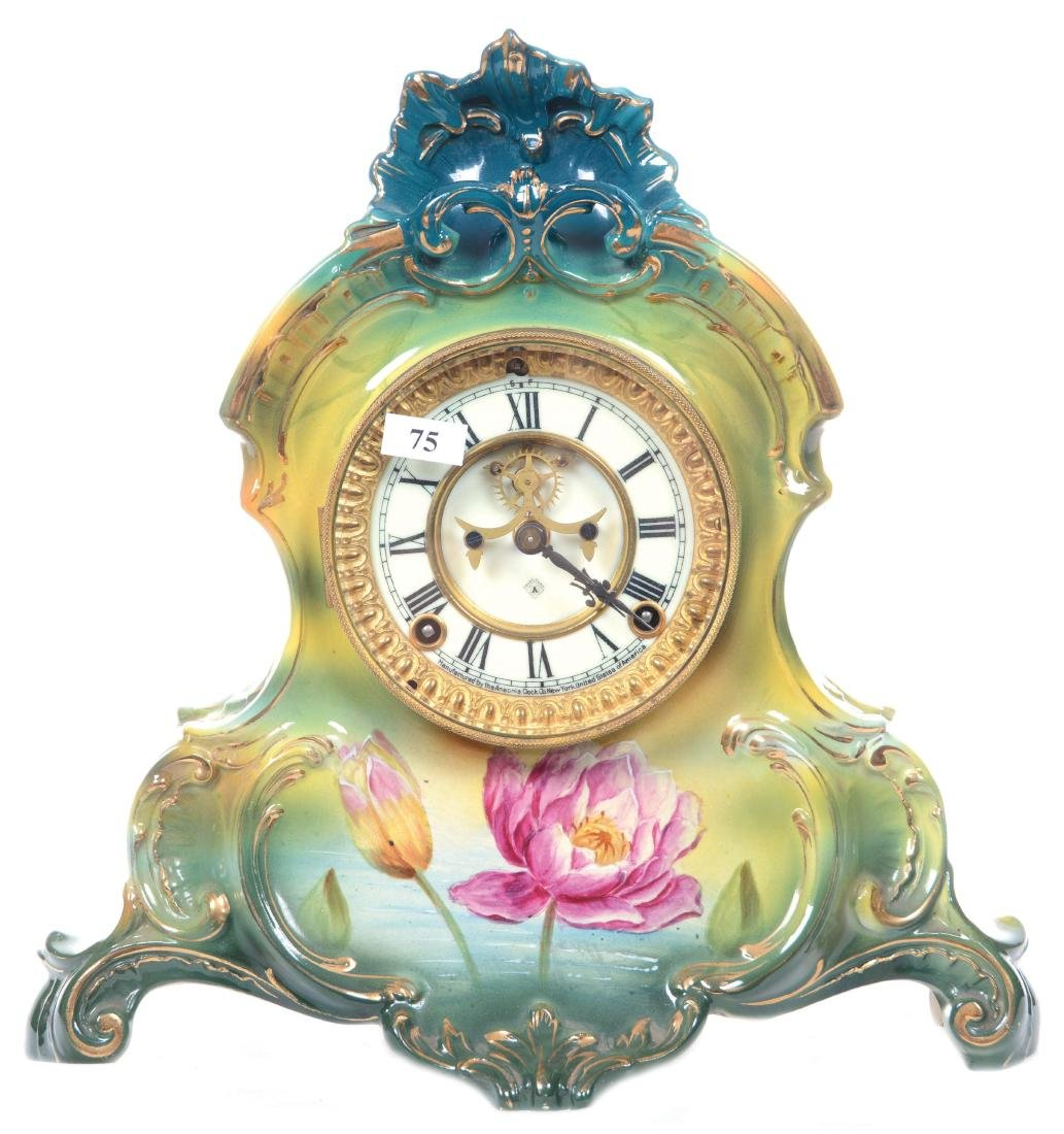 "13"" X 13"" ROYAL BONN MANTEL CLOCK"
