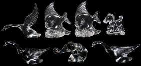 (7) HEISEY CRYSTAL FIGURAL ANIMALS