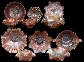(11) PIECES MARIGOLD CARNIVAL GLASS