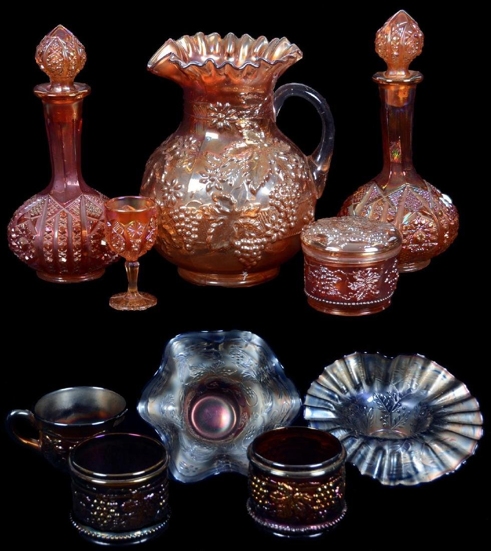 (10) MISC. CARNIVAL GLASS ITEMS