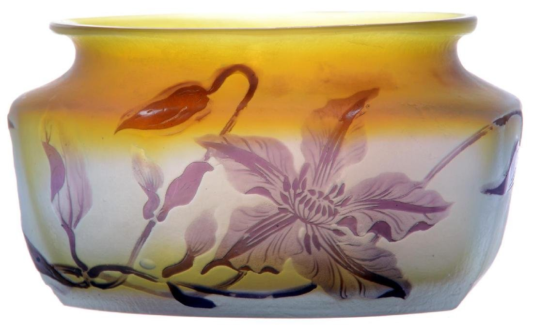 "3.75"" X 6.75"" SIGNED GALLE FRENCH CAMEO ART GLASS VASE"