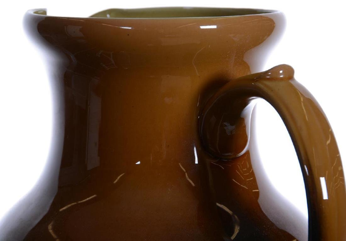 "RARE! 10.75"" ROOKWOOD ART POTTERY PITCHER DATED 1889 - 3"