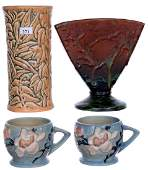 3 ART POTTERY ITEMS INCLUDING