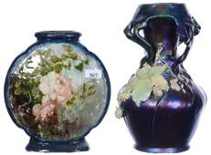 (2) POTTERY STYLE ITEMS INCLUDING