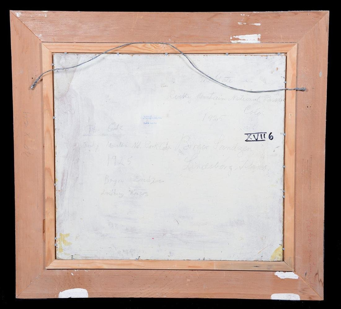 "18"" X 20"" PAINTING - OIL ON BOARD BY BIRGER SANDZEN - 7"