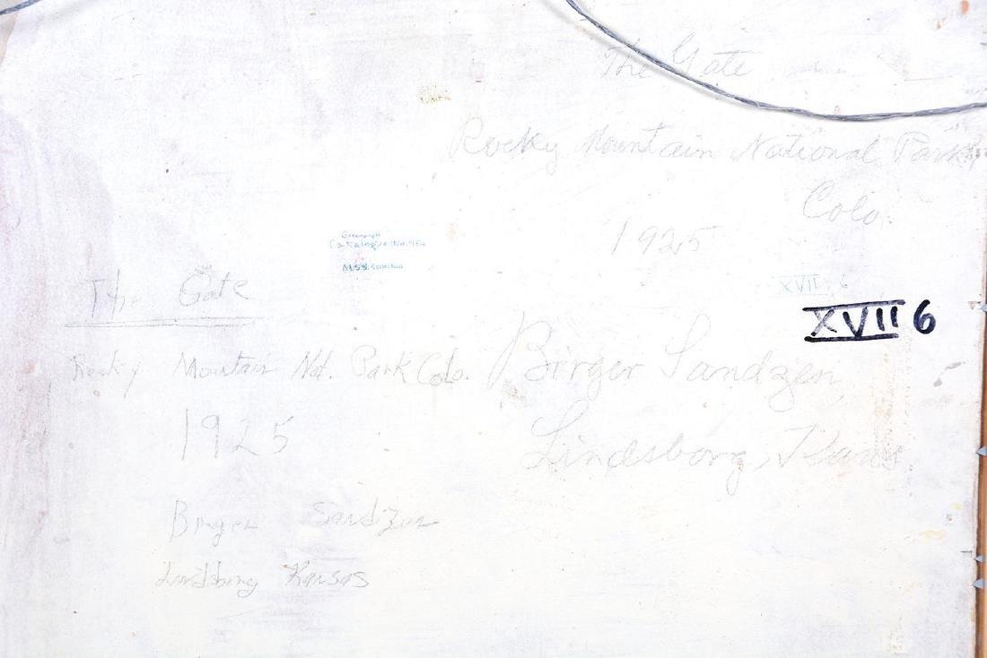 "18"" X 20"" PAINTING - OIL ON BOARD BY BIRGER SANDZEN - 8"