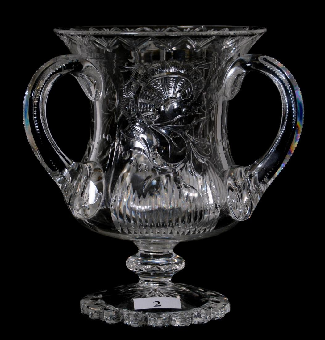 """ROCK CRYSTAL LOVING CUP - 6.25"""" - ABCG - SIGNED HAWKES"""
