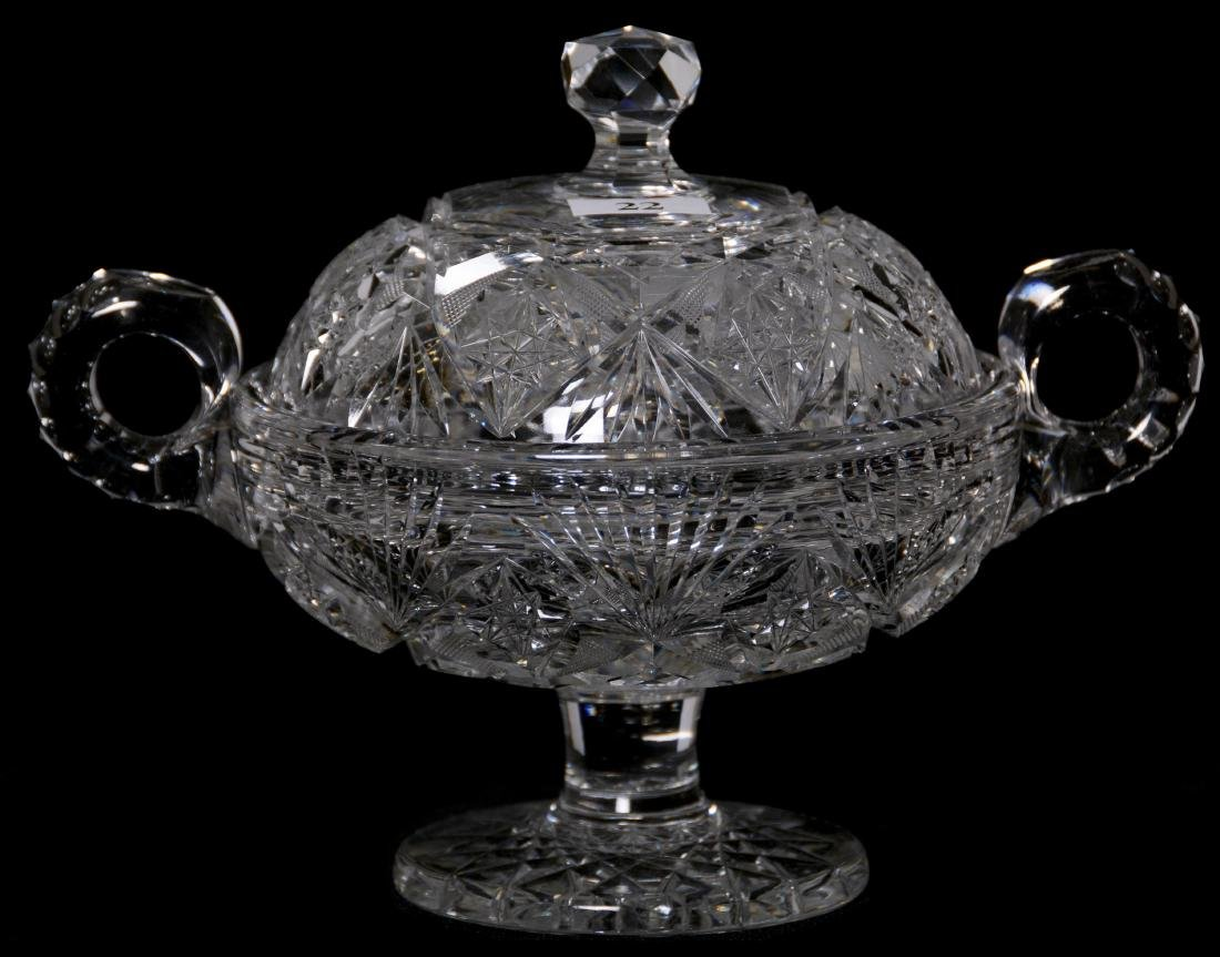 "COVERED PEDESTAL DISH - 6.75"" X 8.5"" - ABCG"