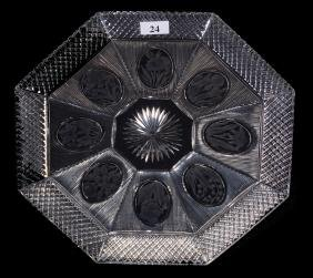 """8-SIDED PLATE - 10"""" - ABCG - SIGNED SINCLAIRE DIAMONDS"""