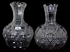 (2) WATER CARAFES - ABCG - INCLUDING