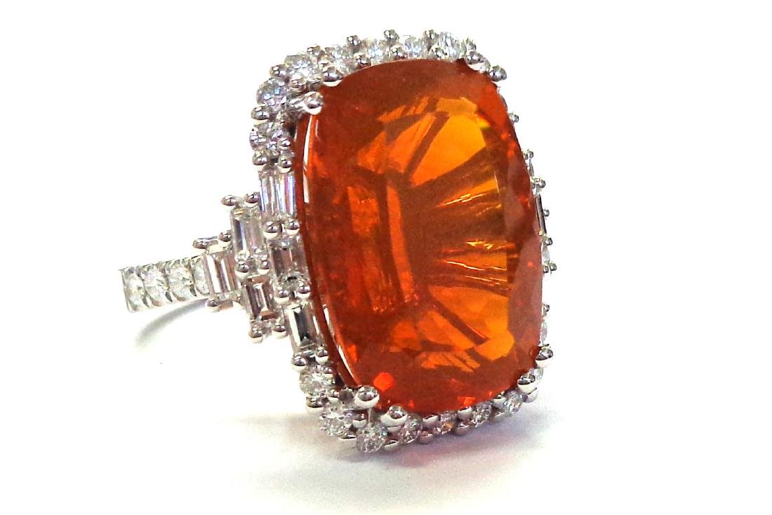 Fire opal ring