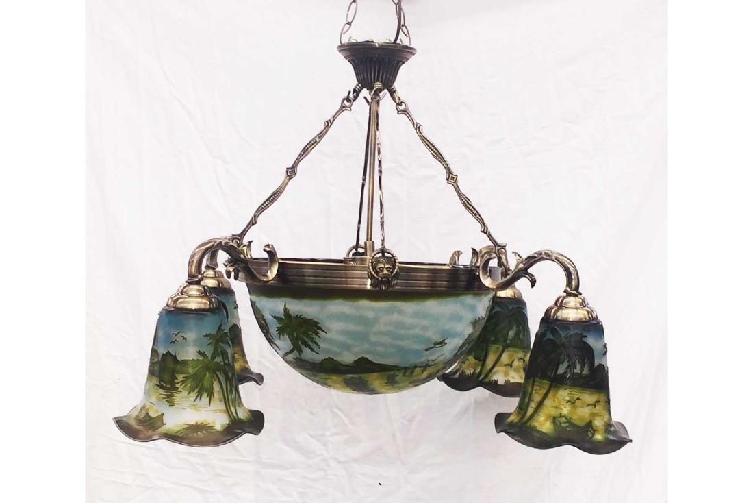Cameo Glass Hanging Fixture