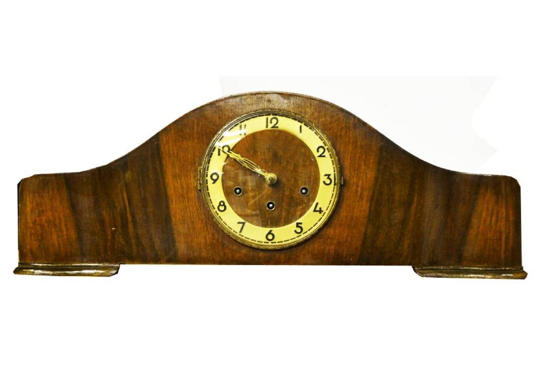 Art Deco Walnut Clock