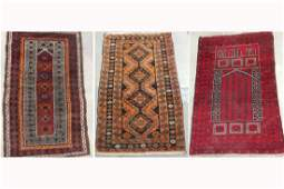 3 Persian Tribal Rugs