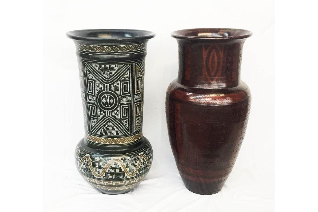 Two Large Pottery Vases