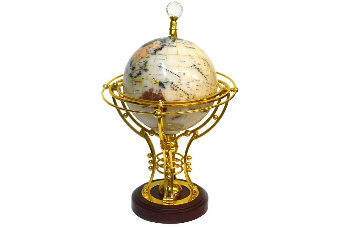 Brass/Glass Globe Lamp