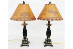Pair Table Lamps with shades