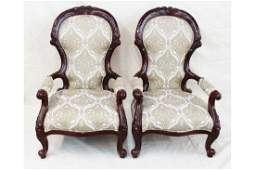 Pair Mahogany Parlour Chairs