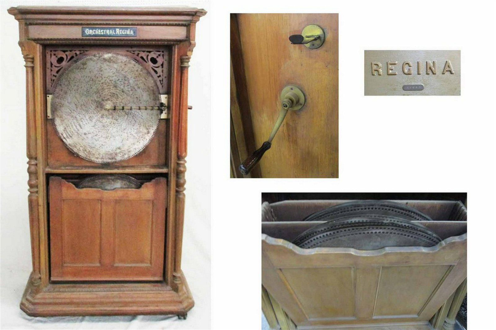Antique Orchestral Regina Tall Case Disc Music Player