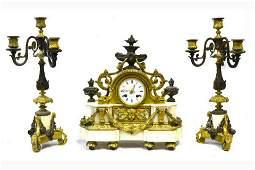3-Piece French Clock Set