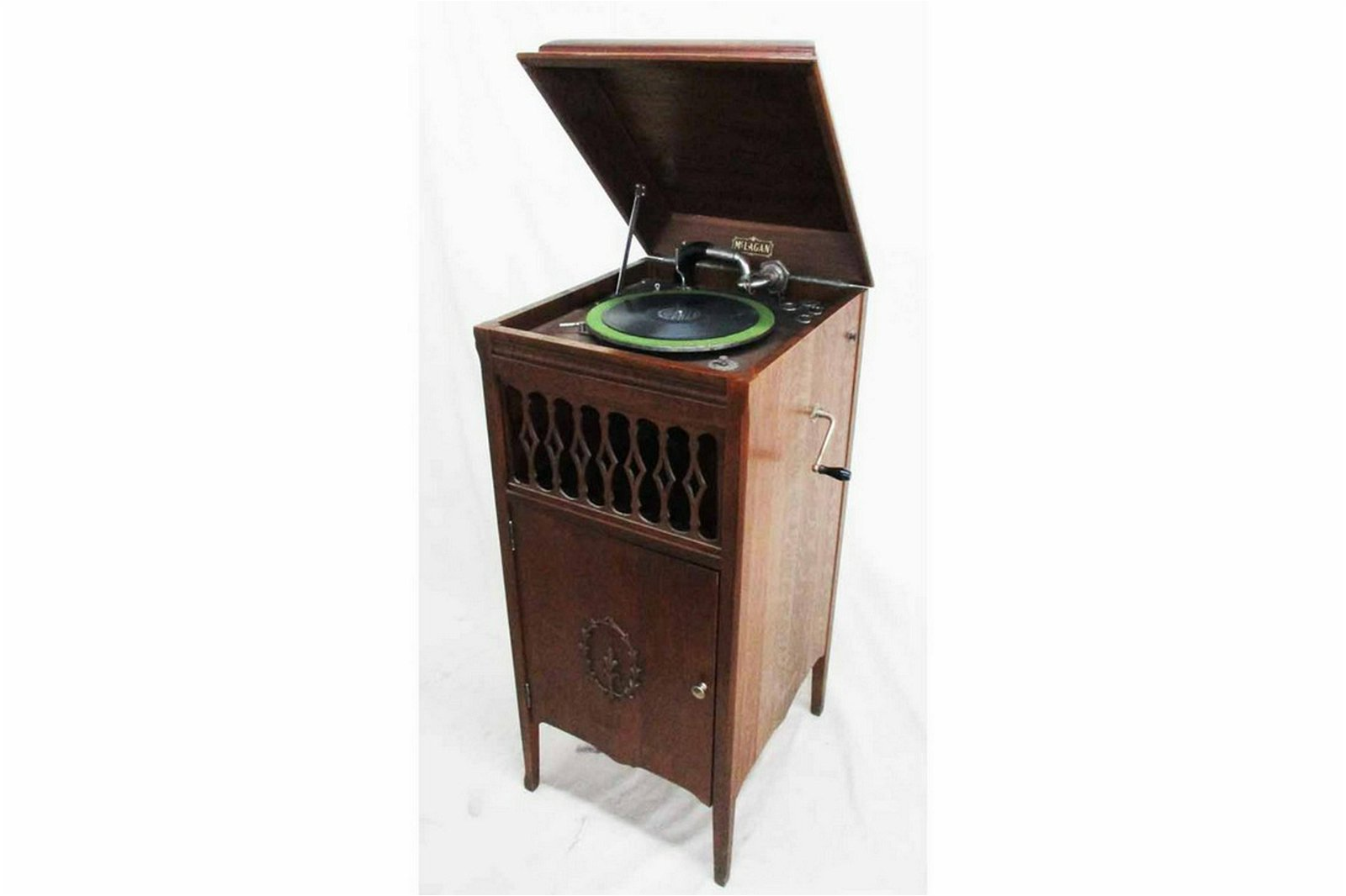 McLagan Oak Phonograph with records