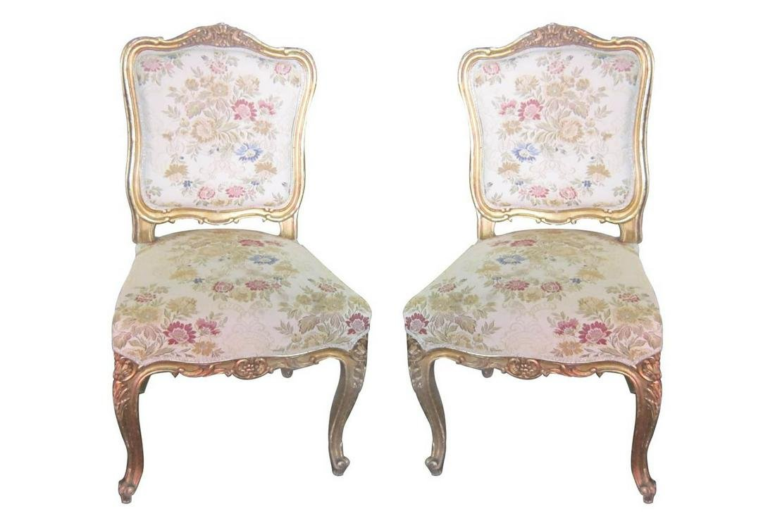 Pair Shield Back Chairs