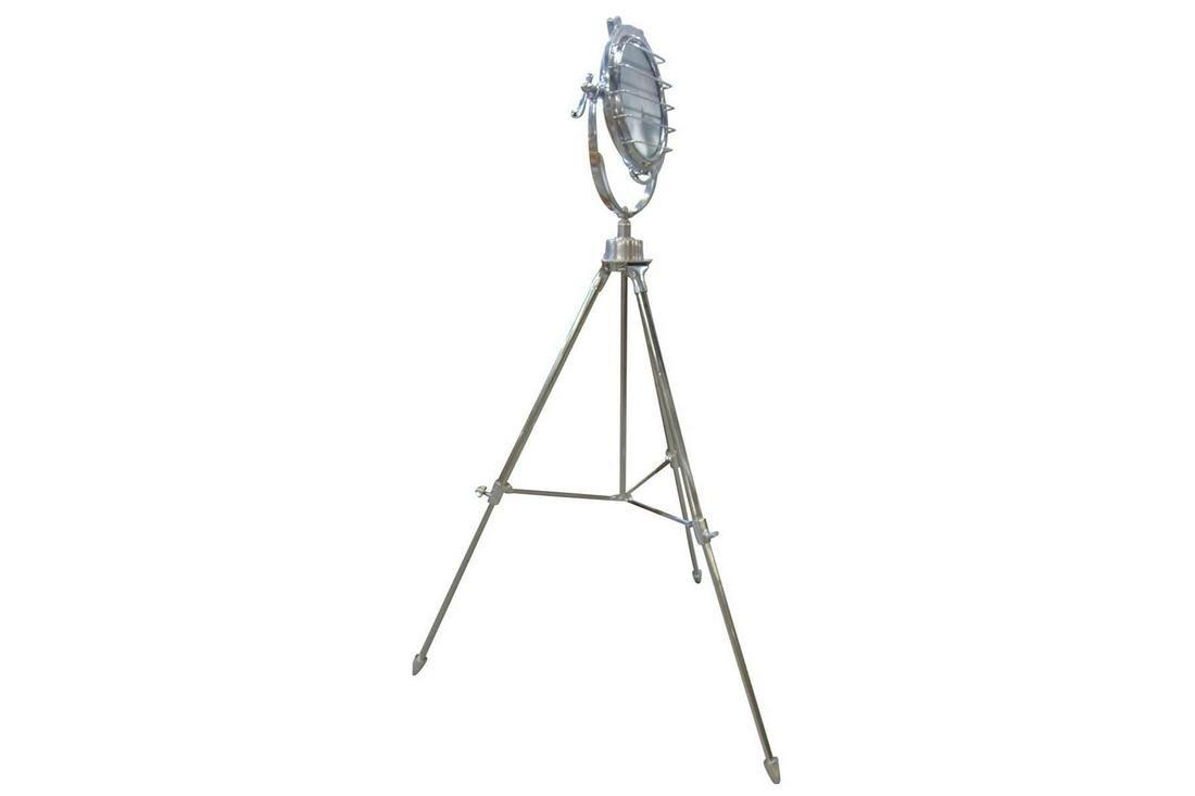 Chromed Metal Floor Lamp
