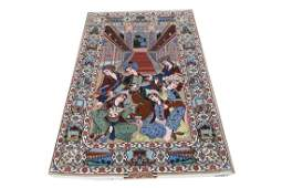 Pesian Isfahan Silk and Wool Pictorial