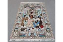 Persian Isfahan Silk and Wool