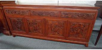Antique Chinese rosewood sideboard