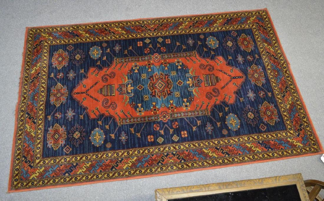 Oriental design woven area rug