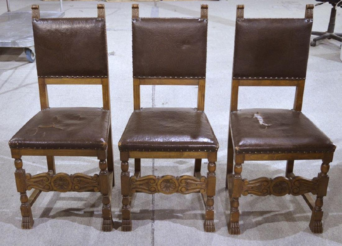 6 antique Renaissance-style dining chairs