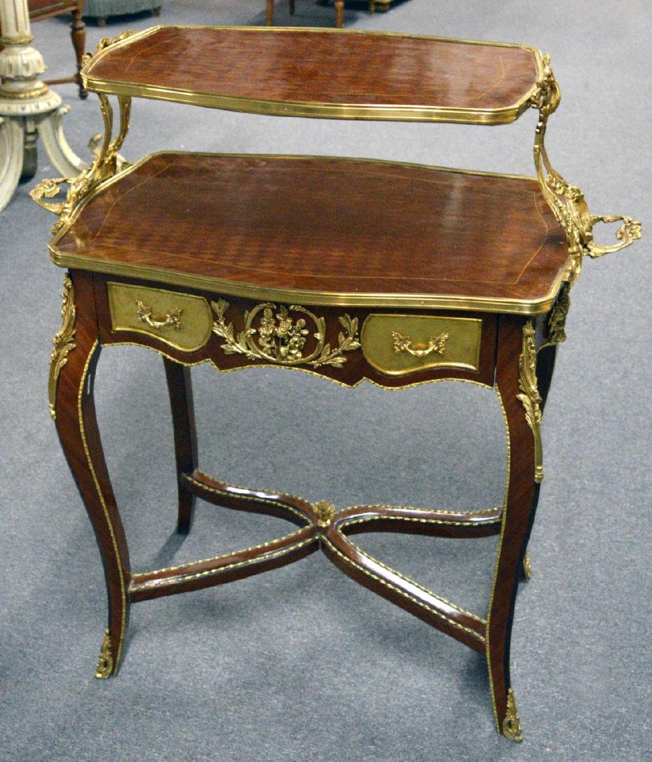 Louis XV-style 2-tier serving table