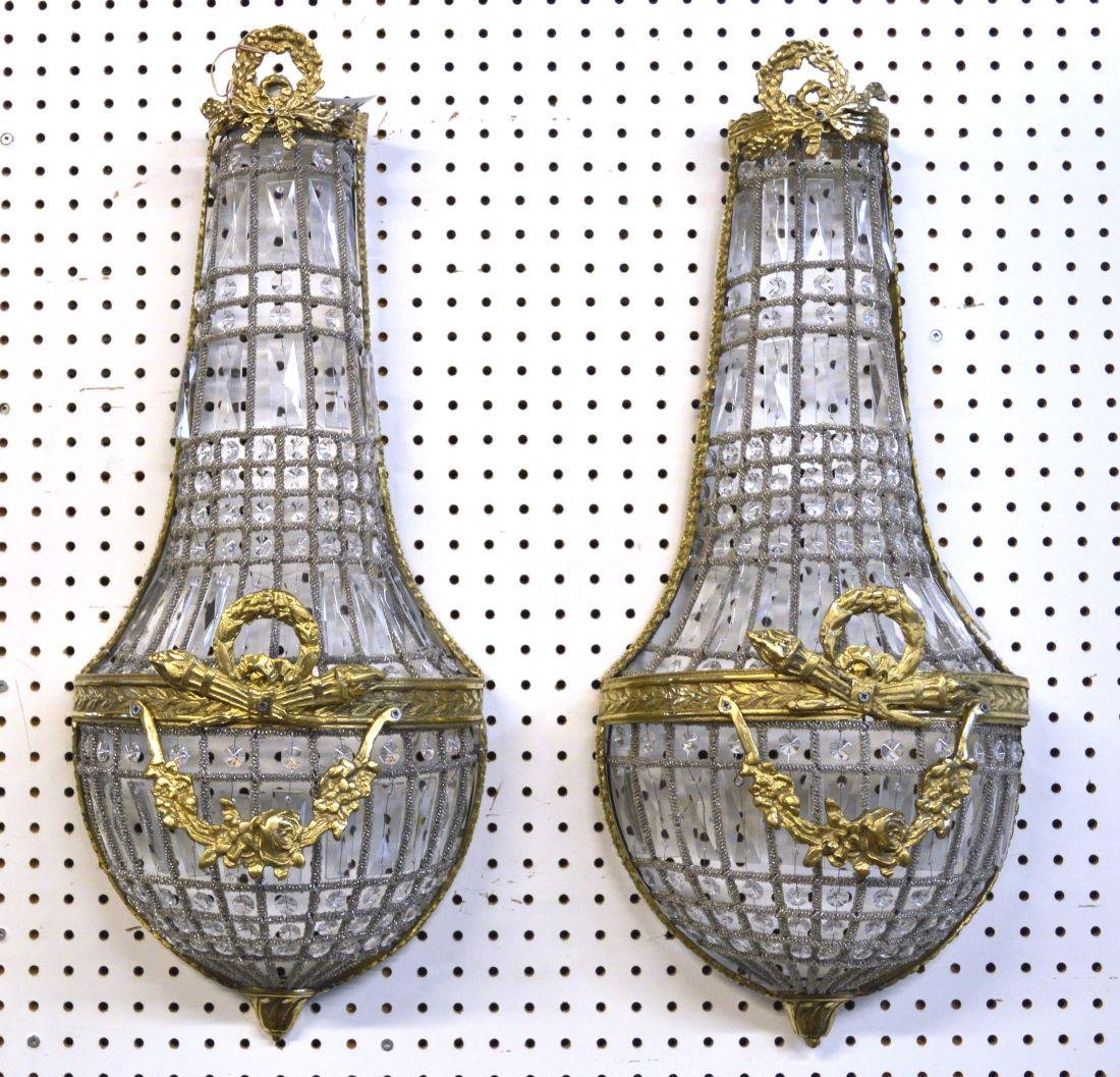 Pair of Louis XVI-style wall sconces