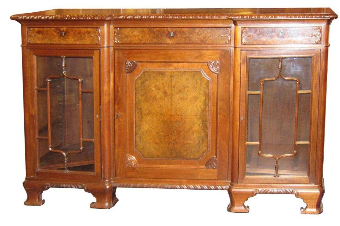 Chippendale-style mahogany sideboard