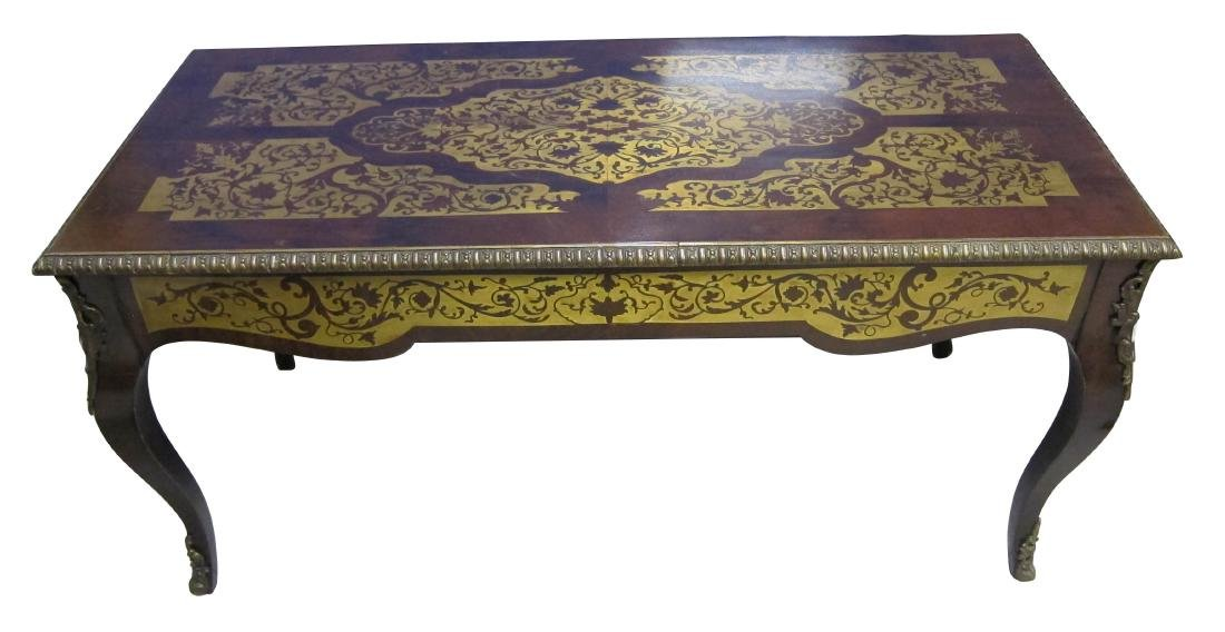 Boulle-style brass inlaid coffee table